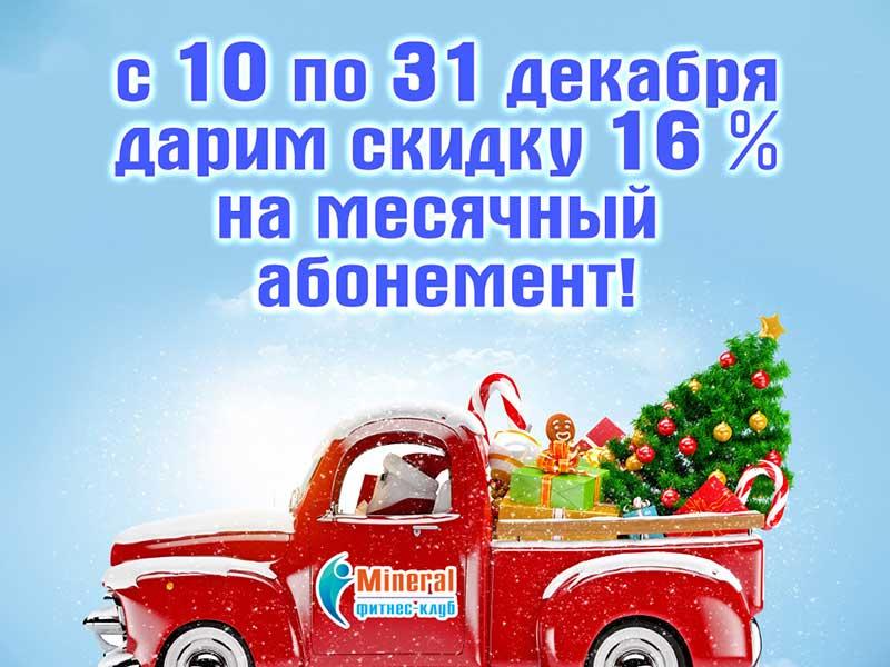 Новогодняя скидка - 16%!